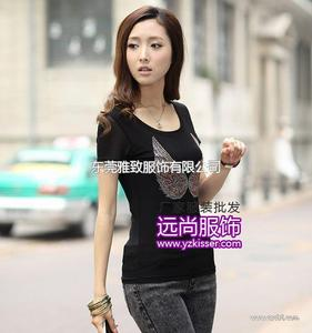 人流量最多的女装T恤小衫批发城在哪里找货最便宜长短裤批发