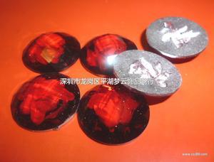 圆形 仿台亚克力平底钻-树脂内花钻(网格面)