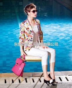尤加迪曼2014春装新款印花长袖小西装外套