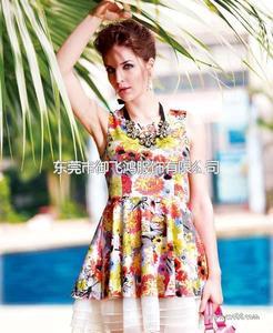 尤加迪曼2014春装新款印花连衣裙