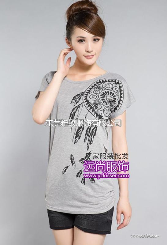 夏季上衣最便宜t恤批发网价格最低的女装批发在哪里大图一