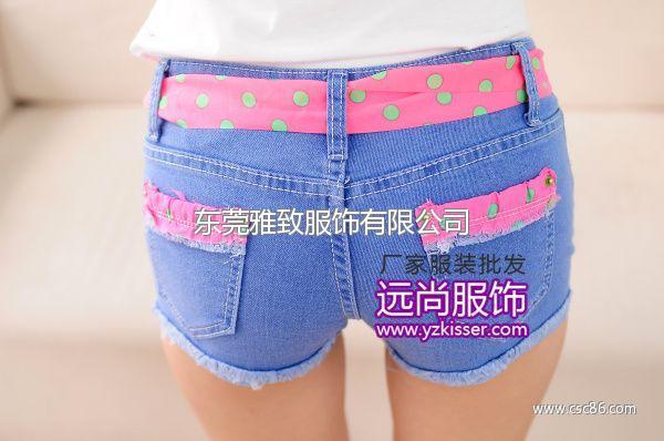 网上2014最安全的夏季牛仔裤批发厂家最流行的服装批发网大图一