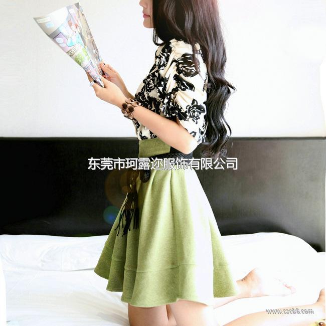 2014韩版明星同款 女装裙子连衣裙 夏季实体批发B355大图一