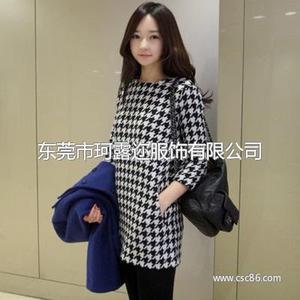 厂家直销 2014韩版新款女装毛呢料 品牌连衣裙B316