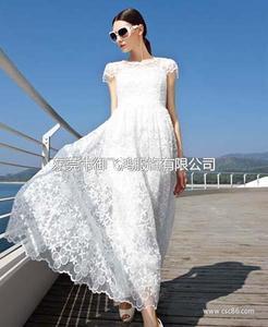 尤加迪曼2014夏装新款蕾丝连衣长裙