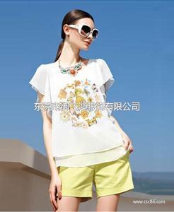 尤加迪曼2014夏装新款印花雪纺衫