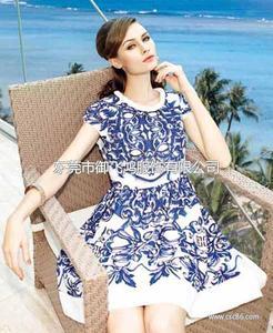 尤加迪曼2014夏装新款印花连衣裙