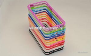 苹果手机壳 iphone4/4s/5/5s硅胶双色边框