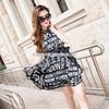 厂家热销欧美夏季原创时尚女装新款印花 品牌连衣裙A389小图一