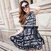 厂家热销欧美夏季原创时尚女装新款印花 品牌连衣裙A389小图二