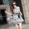 厂家热销欧美夏季原创时尚女装新款印花 品牌连衣裙A389小图三
