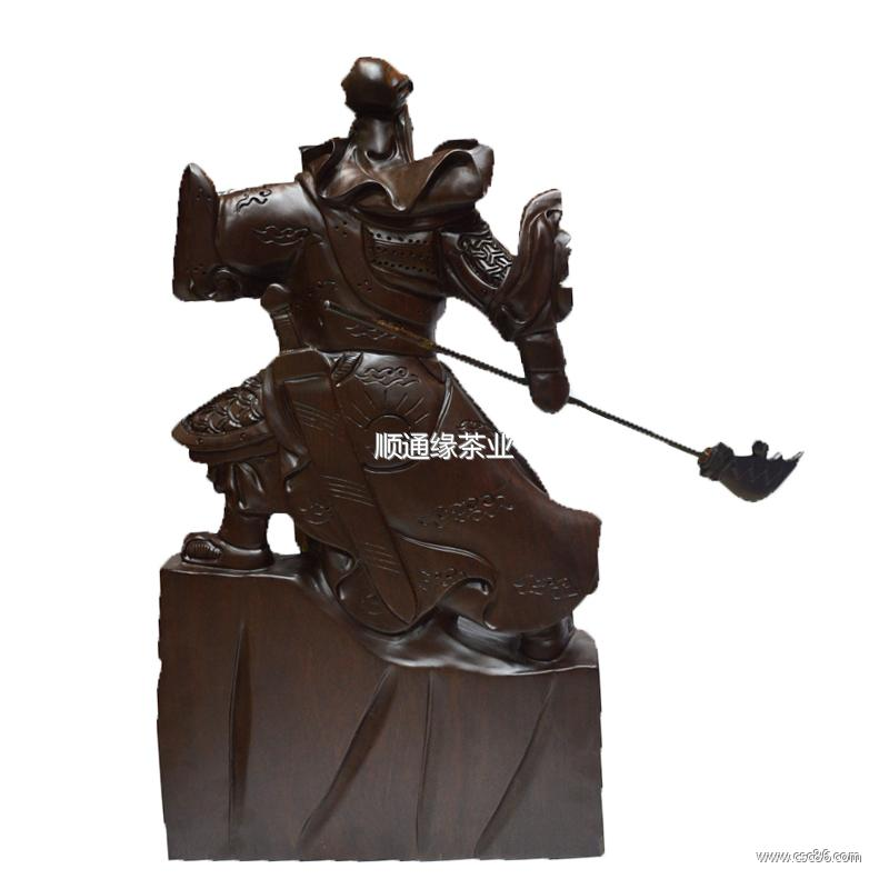 雕刻关公木质艺术品图片