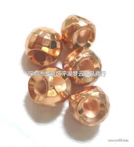 CCB四方形刻面铜本色耳朵珠