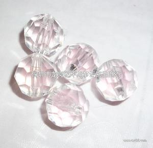 内彩粉红珠中珠