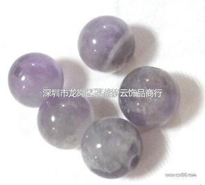 天然紫水晶光珠