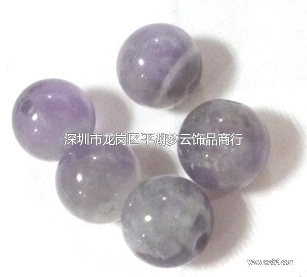 天然紫水晶光珠大图一