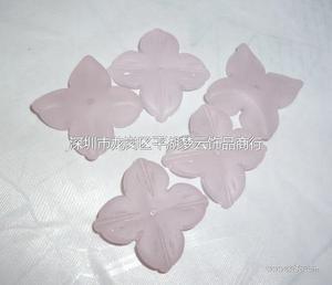 粉色玻璃花瓣 中孔