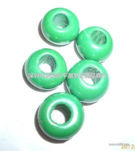 深绿烤色大孔珠