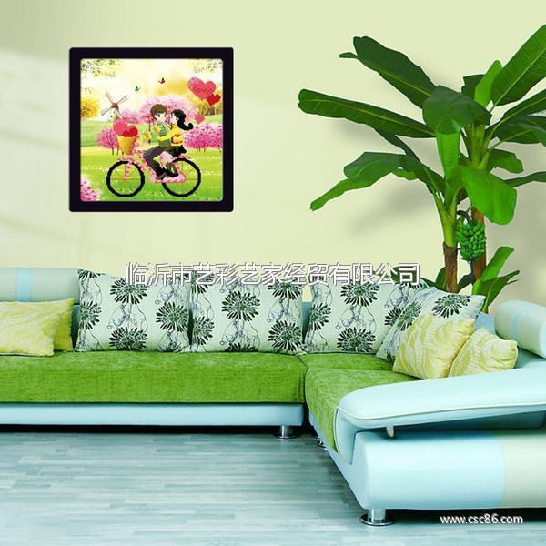 最流行客厅(卧室,餐厅)十字绣装饰画小品