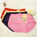夏季新品时尚竹纤维 女士 透气  蕾丝  内裤