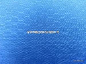 210D/PU蜂巢纹牛津布  足球纹