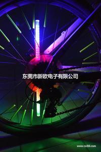 可编辑文字图案自行车幅条灯