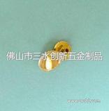 光身全铜挂镀金色四合扣 急钮面扣12.5mm/15mm