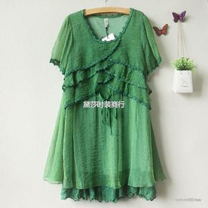 夏装 新品女装 时尚短袖雪纺连衣裙 厂价直销