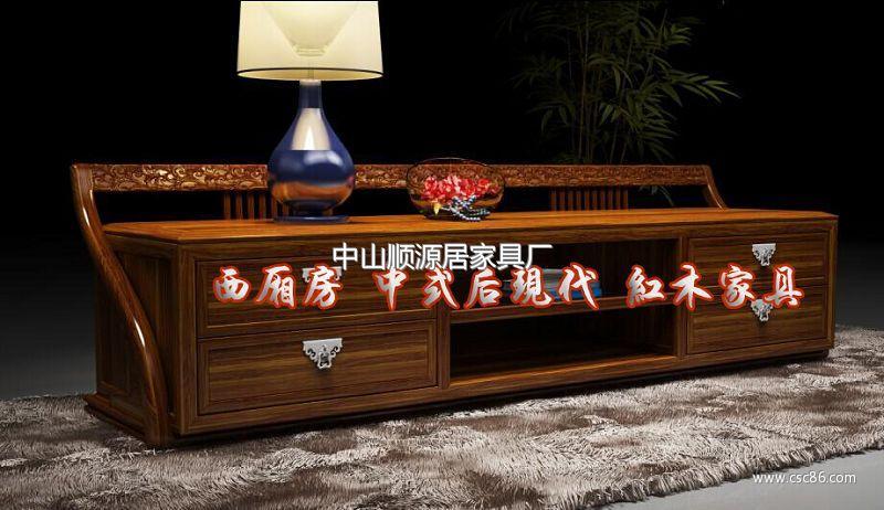 新中式电视柜 中式后现代电视柜上市发行图片