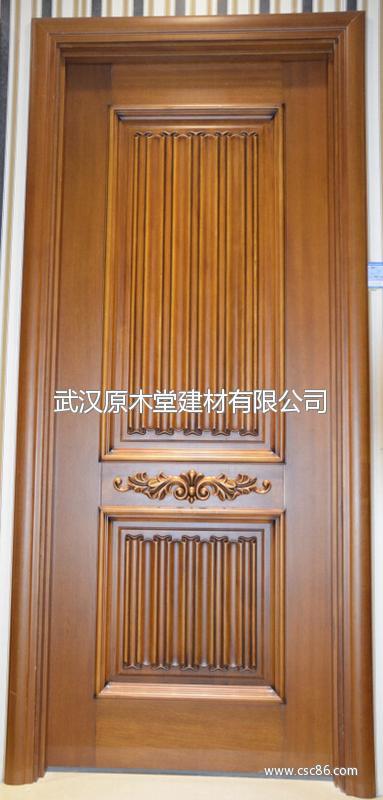 中式原木门图片