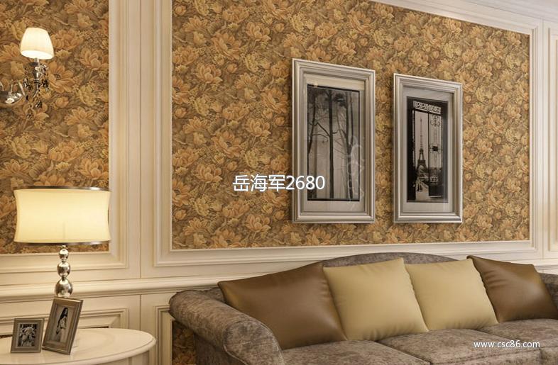 欧式深压纹宫廷大花 卧室床头墙纸qh客厅餐厅背景墙图片