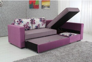 多功能折叠沙发床 设计独特 储物功能沙发床 材质皮制沙发