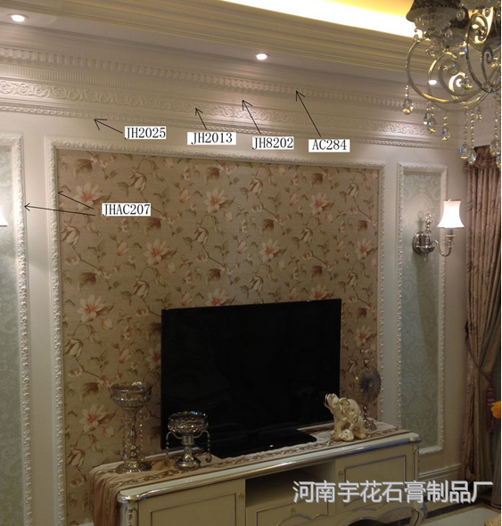石膏线条欧式 平板线 背景墙效果图