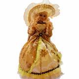 纺织花边小玩偶  金黄色2