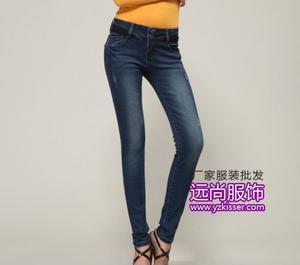 价格实惠的牛仔裤批发销量最大的条纹打底衫批发