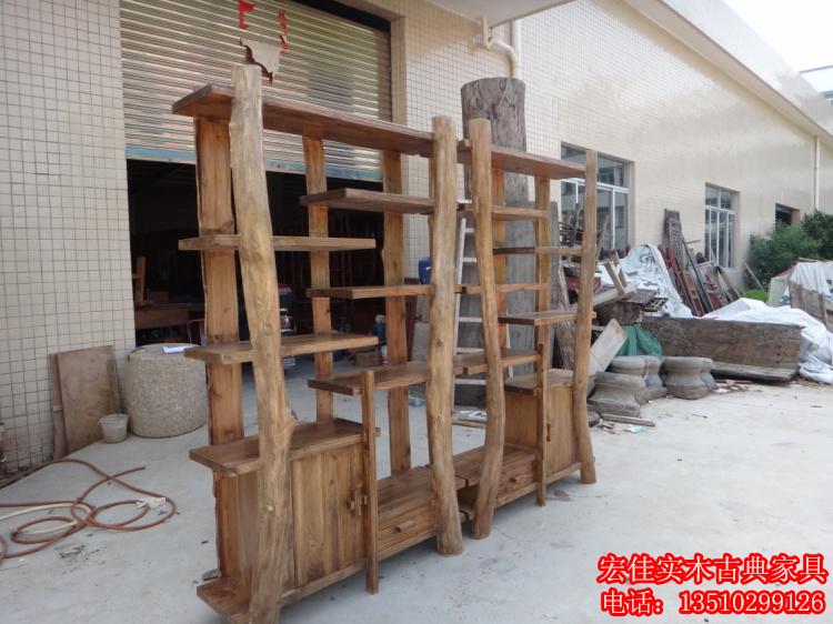 实木货架茶叶架 原生态家具