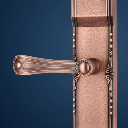 亚太天能指纹锁家用智能门锁防盗门木门欧式电子门锁