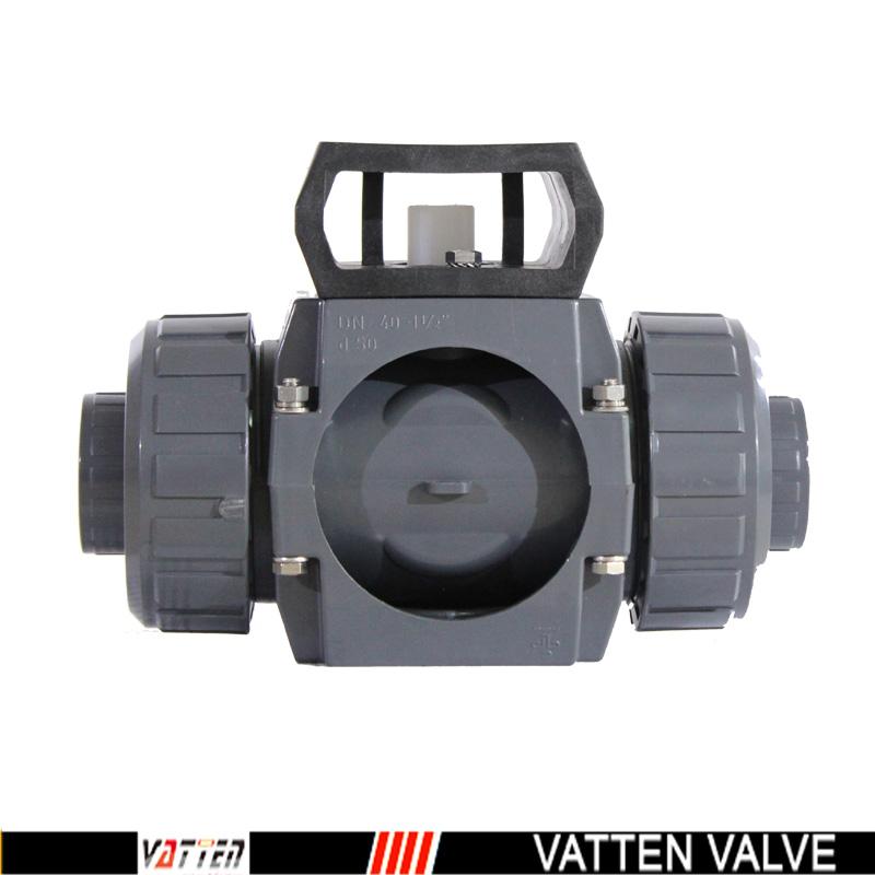 电动三通upvc球阀,进口塑料球阀图片