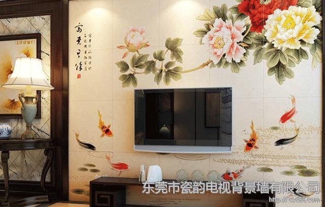 中式家装客厅电视瓷砖背景墙批发价格