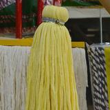 生洁 纯棉头钢丝扎手拧拖把吸水拧水圆头全棉线拖把
