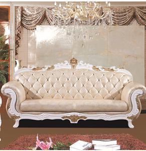 欧式客厅沙发 真皮实木家具 时尚休闲组合 生产厂家