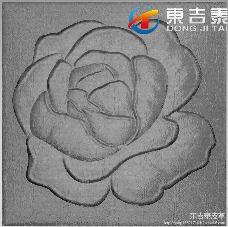 001-皮雕软包家装背景墙KTV背景墙玫瑰花大图一
