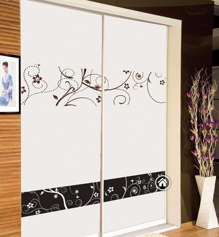 衣柜门定做 米兰白木塑百叶移门