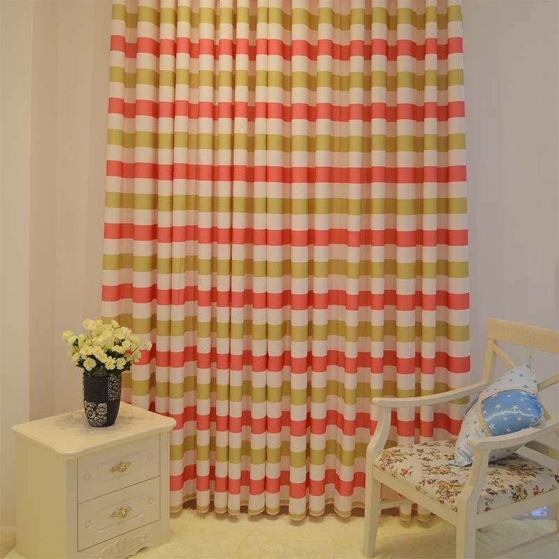 简约现代地中海条纹全遮光窗帘 卧室客厅儿童书房 批发可零剪