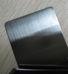 供应黑色拉丝不锈钢板