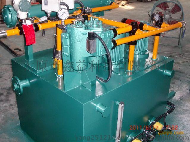 油站出油口接有压力式电接点温度计,根据供油温度要求,调定最高和图片
