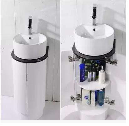 落地欧式小户型小巧浴室柜卫浴洁具组合洗手池洗漱