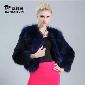 正品新款貉子毛外套整皮女短款圆领貉子毛皮草英伦外套