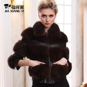 冬季正品水貂皮草外套 裘皮大衣 紫貂外套短款