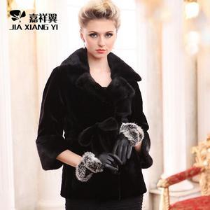冬季新款正品女皮草外套水貂皮草整貂西服领韩版短款